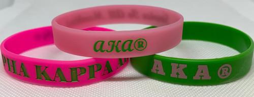 3 AKA Silicone Bracelets