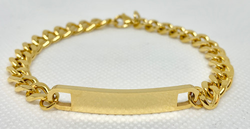 Custom  Gold Stainless Steel Bracelet 6.5""