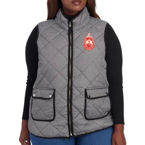 Delta Sigma Theta Black/White  Houndstooth Vest