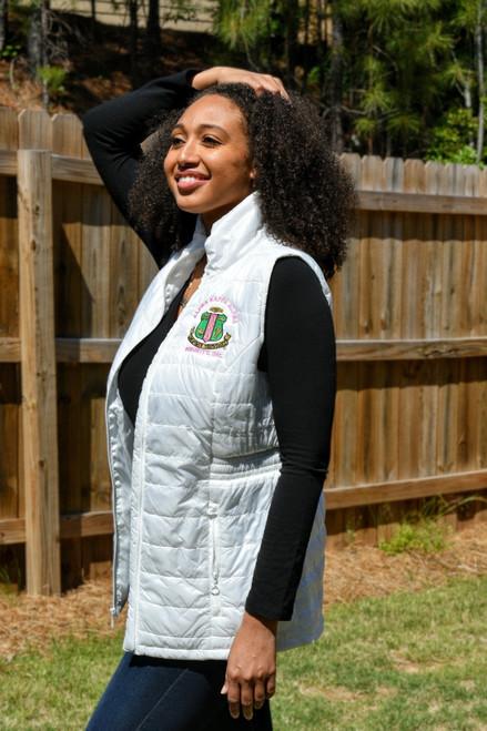 Alpha Kappa Alpha Shiny Puffer Vests