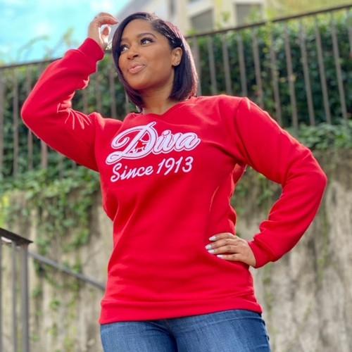 Diva Since 1913 Chenille Sweatshirt