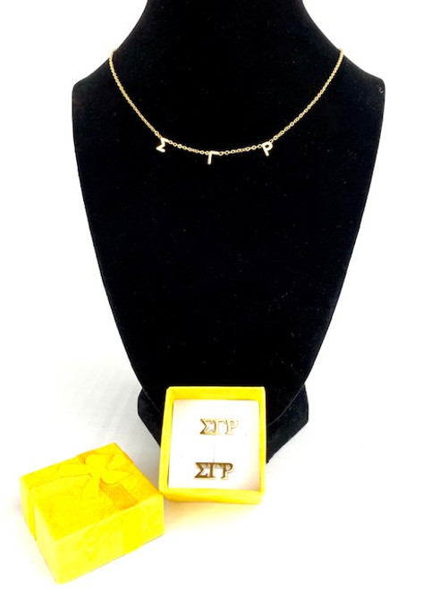 SGRho Necklace and Earrings Gift Set