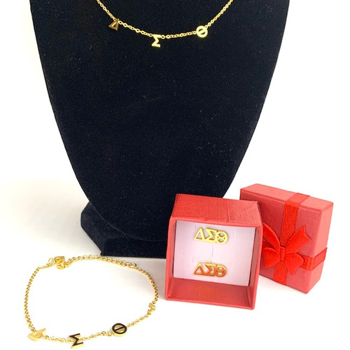 "DST 16"" Necklace and Bracelet Get a Pair of Earrings Free"