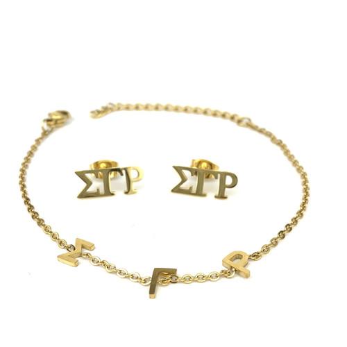SGRho Bracelet and Earrings Gift Set