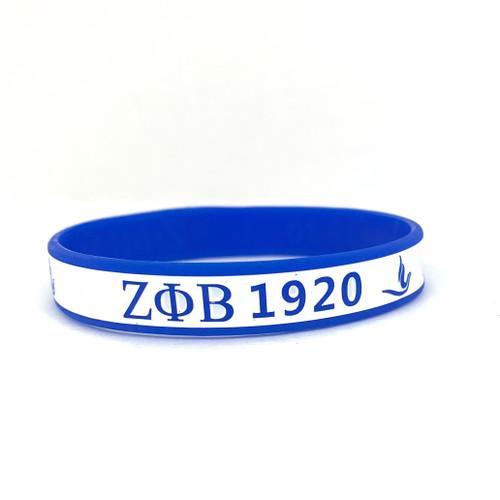 Zeta Phi Beta 1920 Silicone Bracelet