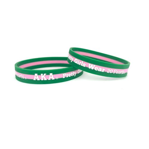 AKA Pretty Girls Silicone Bracelet-Alpha Kappa Alpha