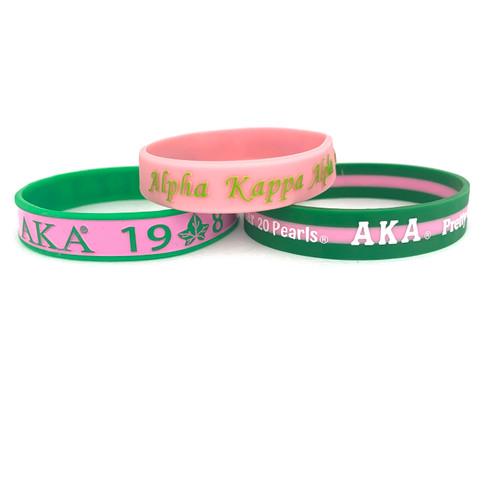 AKA 3 Silicone Bracelets Bundle II