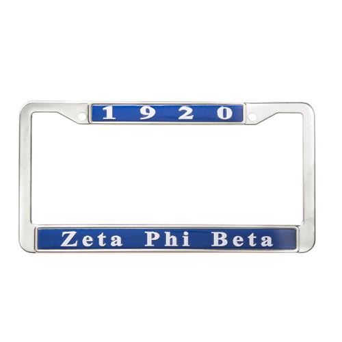 Zeta Phi Beta  Auto License Plate