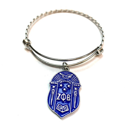 Zeta Phi Beta Shield Charm Bracelet
