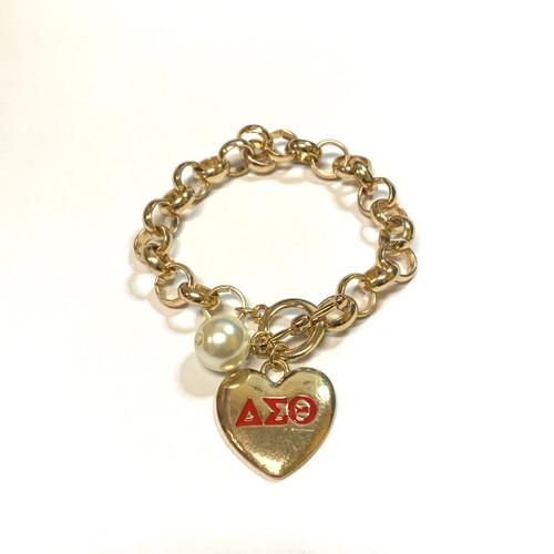 DST Heart Toggle Bracelet