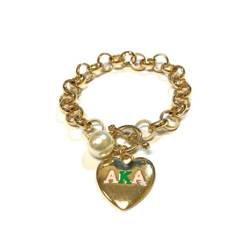 AKA Heart Toggle Bracelet