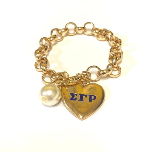 SGRho Heart Toggle Bracelet