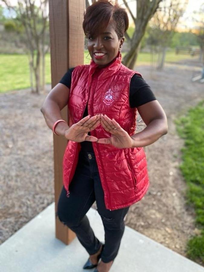 Delta Sigma Theta Shiny Puffer Vest