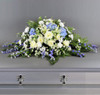 Blue and White Casket Spray-FNBW-01