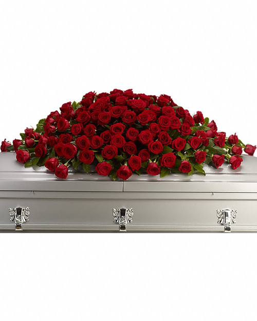 All Red Rose Casket Spray-FNRR-01