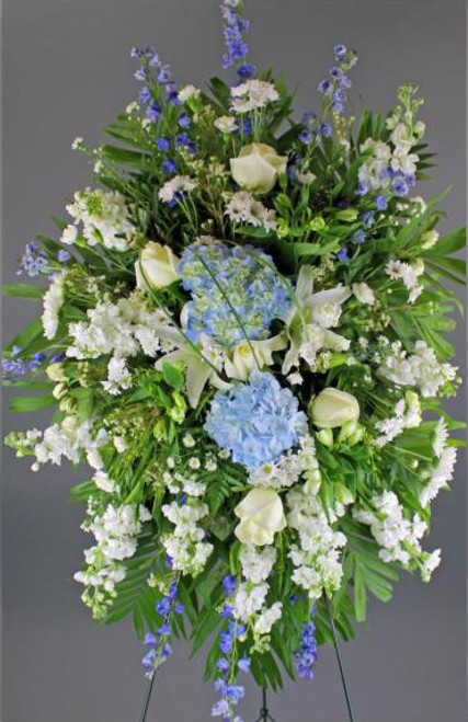 White and Blue Standing Spray-FNWBS-01