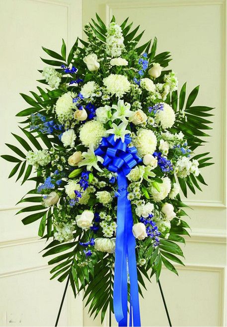 White and Blue Standing Spray-FNWBS-02