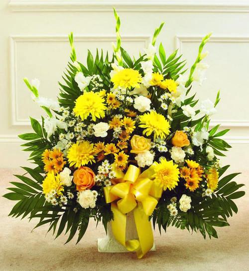 Yellow Sympathy Basket-FNFSB-11