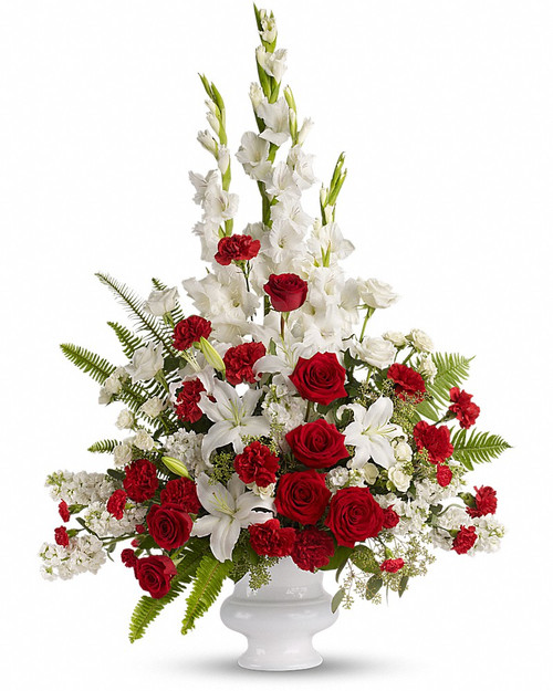 Red and White Sympathy Basket-FNFSB-29