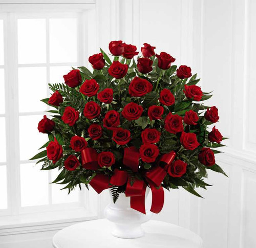 All Rose Sympathy Basket-FNFSB-35