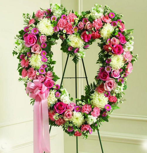 Pink and White Hollow Heart-FNHOL-09