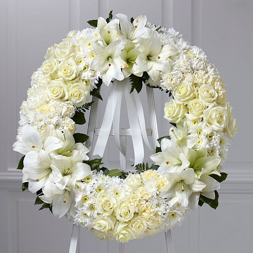 Deluxe All White Wreath-FNFSW-02