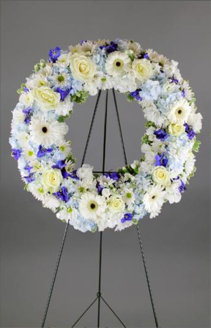 White and Blue Wreath-FNFSW-14