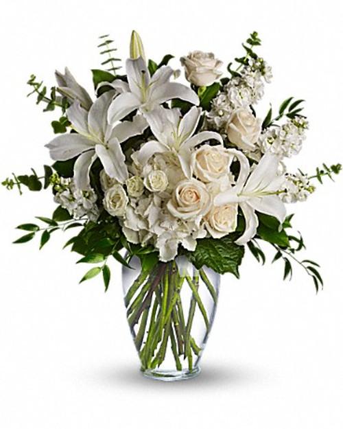 All White Floral Vase-FNFHM-02
