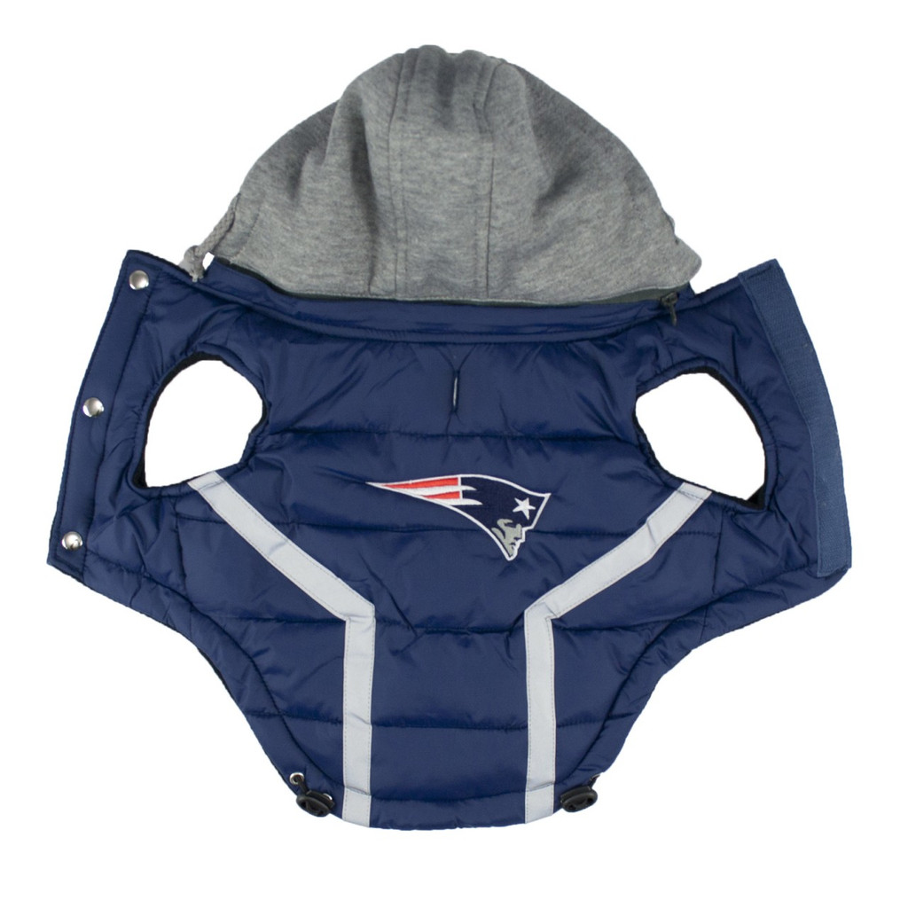 Hip Doggie New England Patriots Dog Puffer Vest