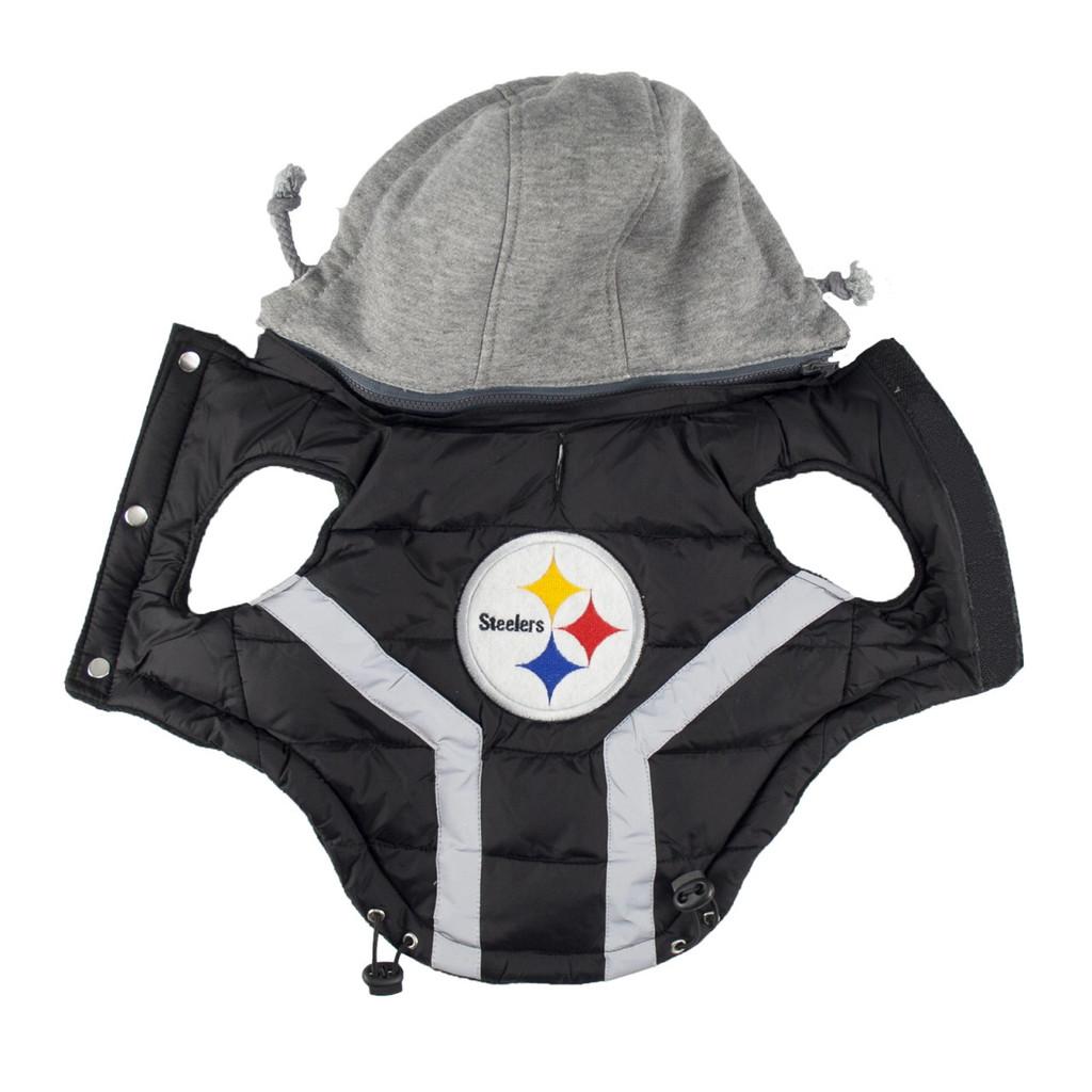 Hip Doggie Pittsburgh Steelers Dog Puffer Vest