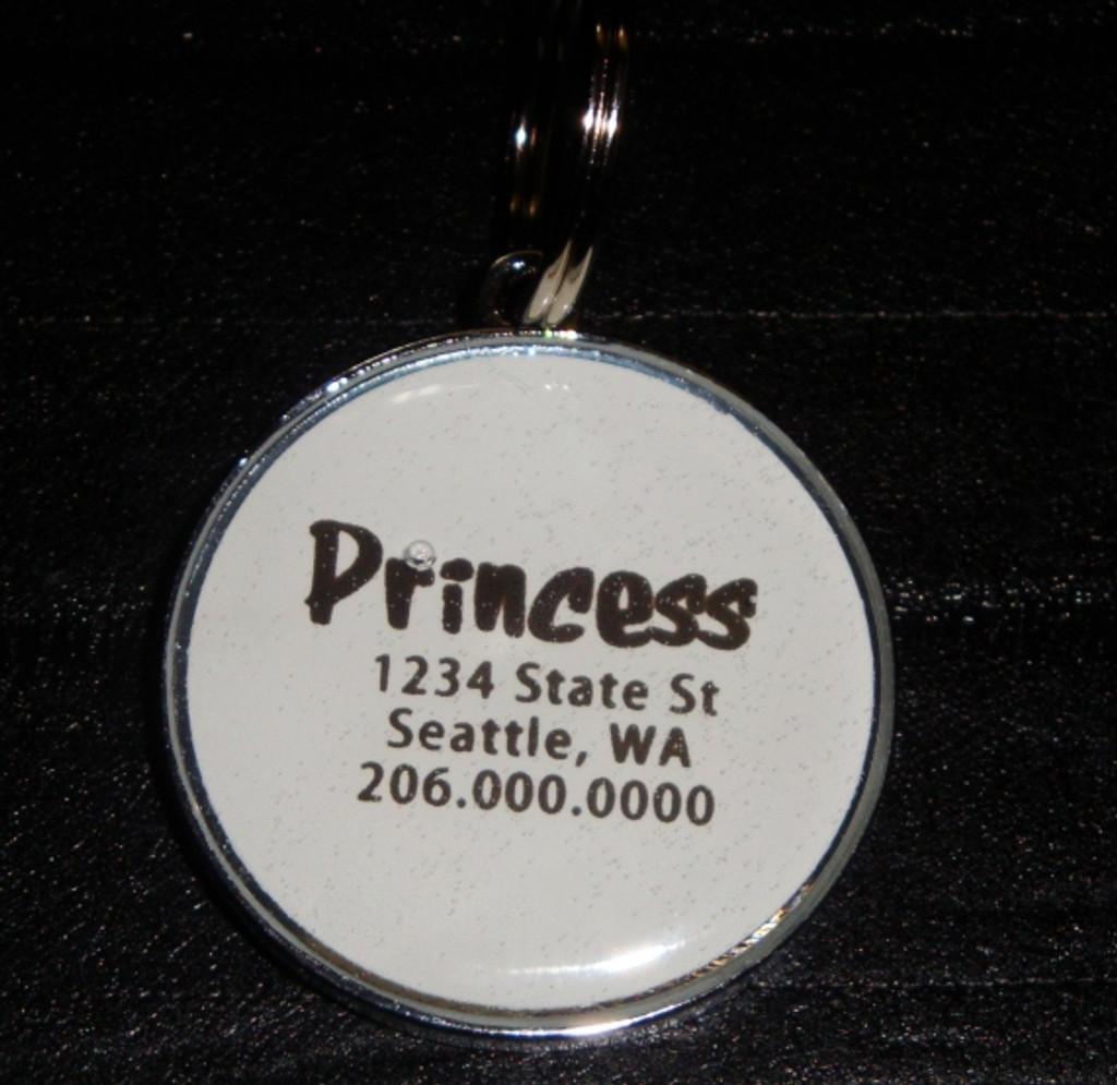 Argyle Pastel Rhinestone Pet ID Tag