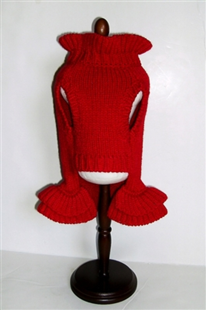 Red Holiday Dog Sweater Dress