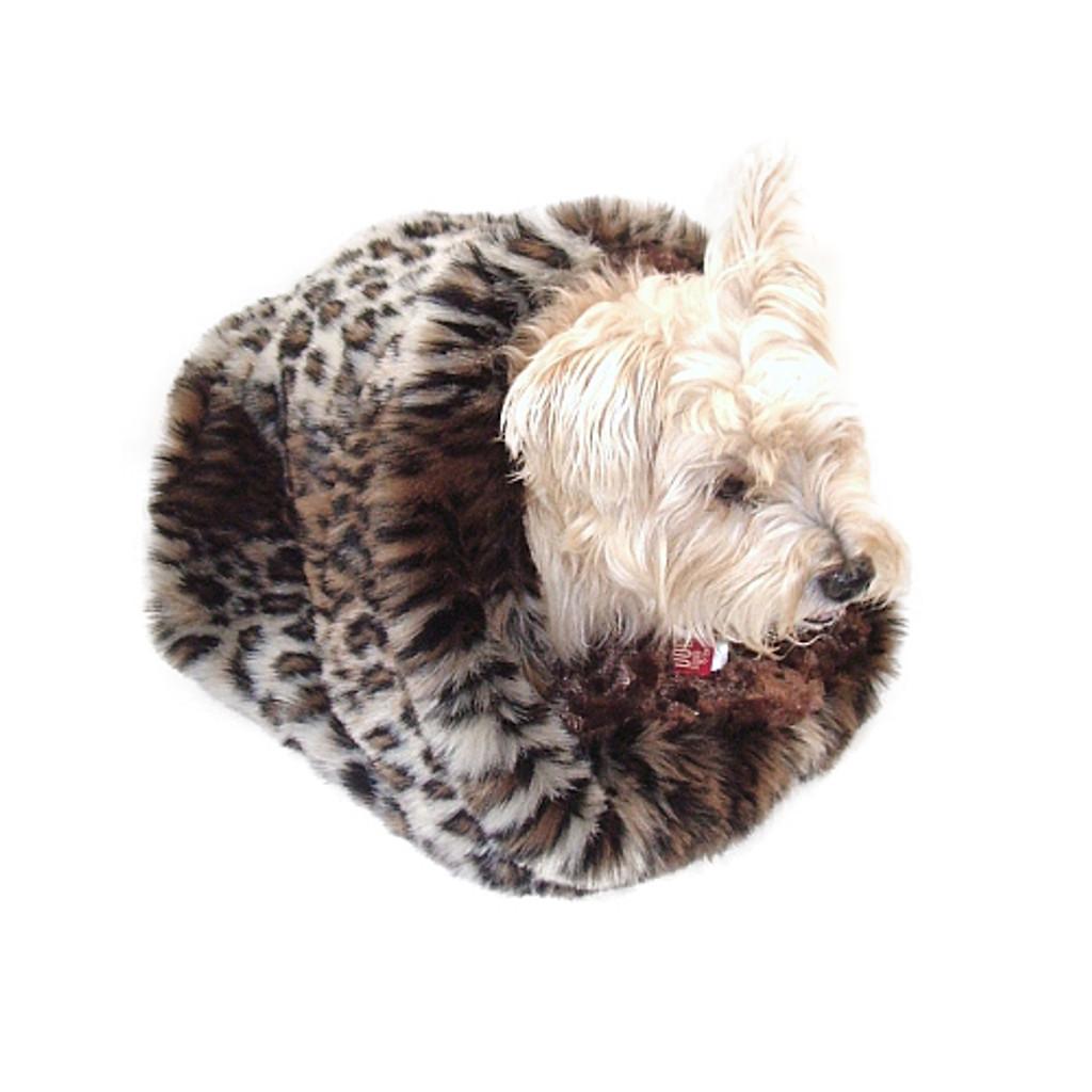 Brown Leopard Plush Cozy Sak