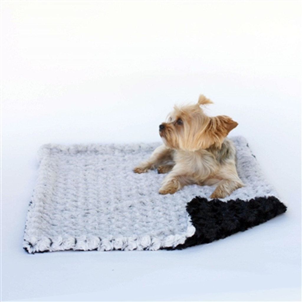 Grey/Black Minkie Binkie Blanket