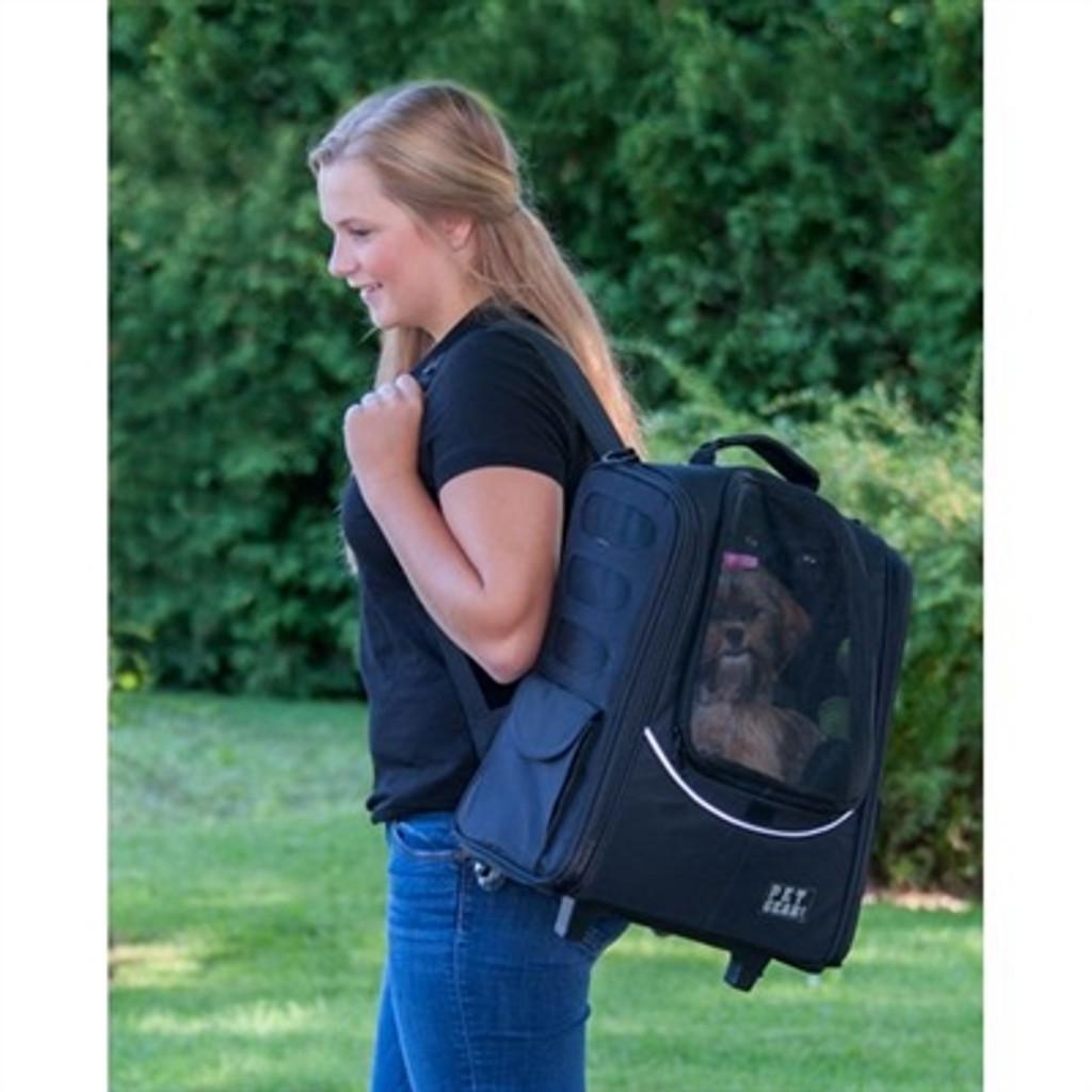 Pink Escort Dog Roller-Backpack