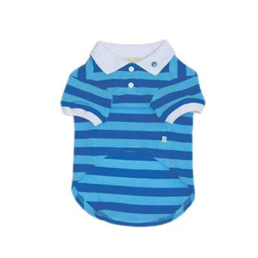 Stripe Polo Shirt BLUE
