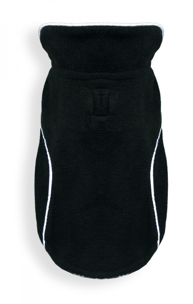 Reversible Polar Fleece Wrap Coat - Black Plaid