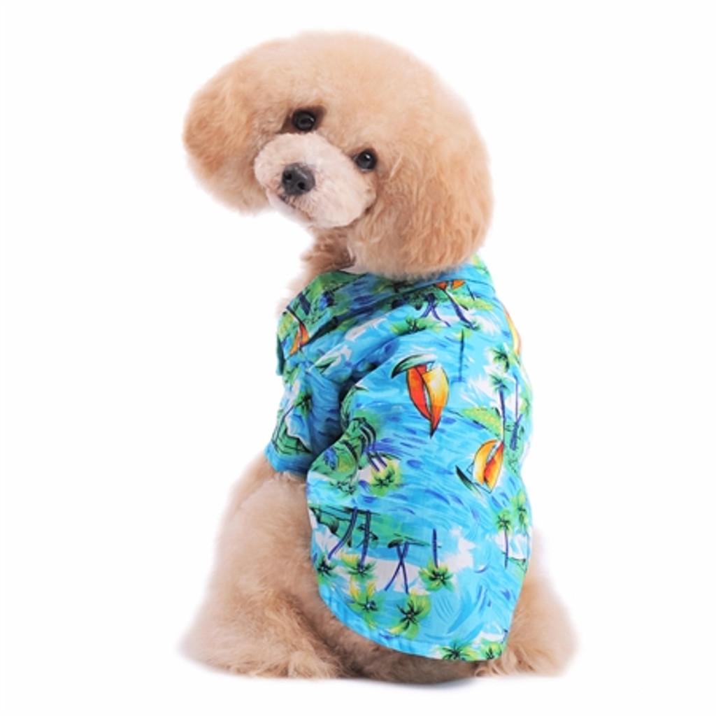 Tropical Island Shirt-Blue