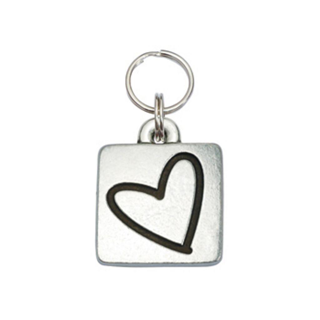 Heart Square Pet ID Tag