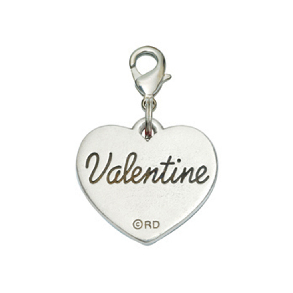 Rockin Doggie Be Mine Heart Valentine's Dog Charm