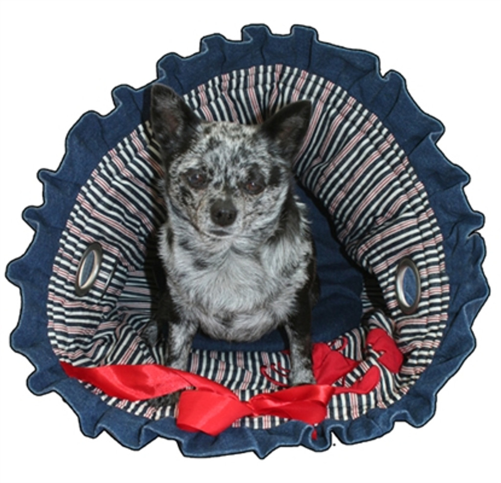 Denim & Stripes Reversible Snuggle Bug with Lobster Applique