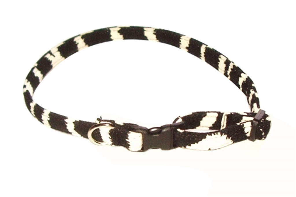 Zebra Celebrity Quick Release Ultra Suede Collar