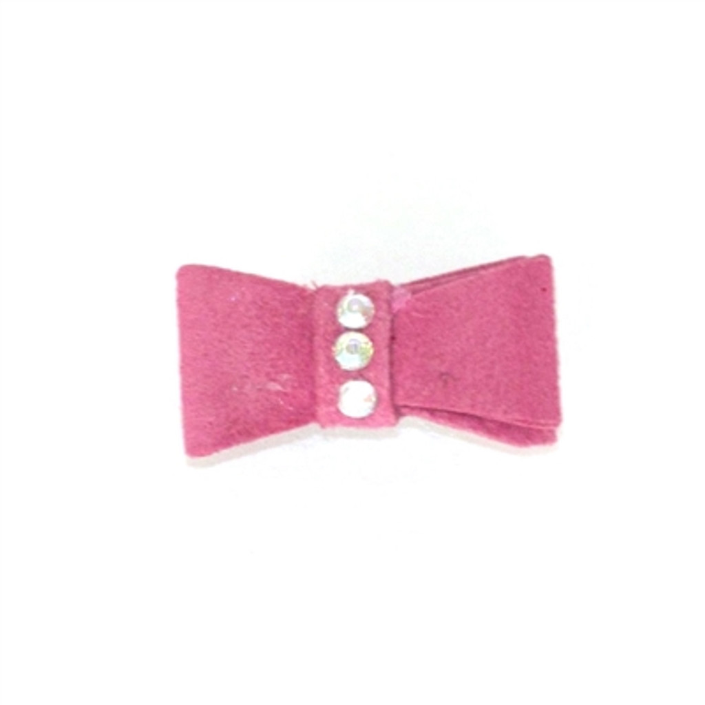Fuschia Recycled Ultra Suede Hair Bows