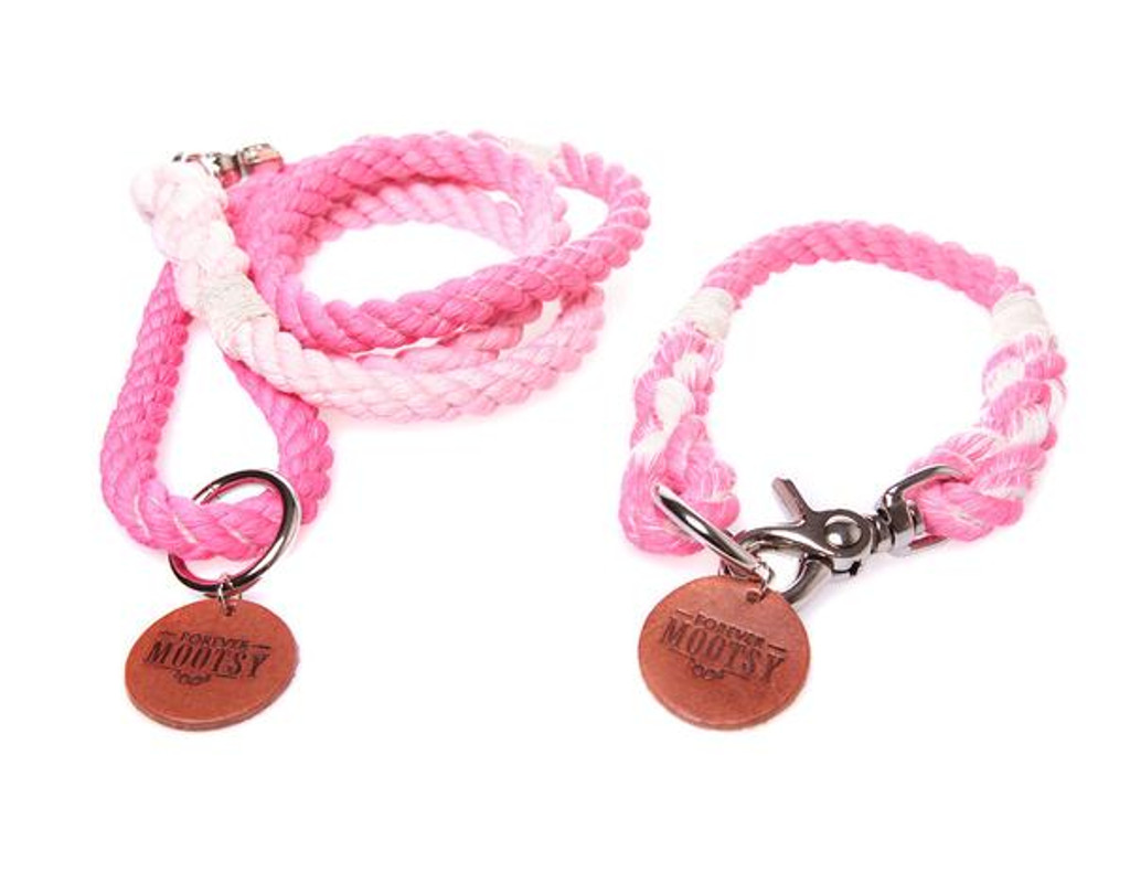 Petal Pink Ombré Dog Leash