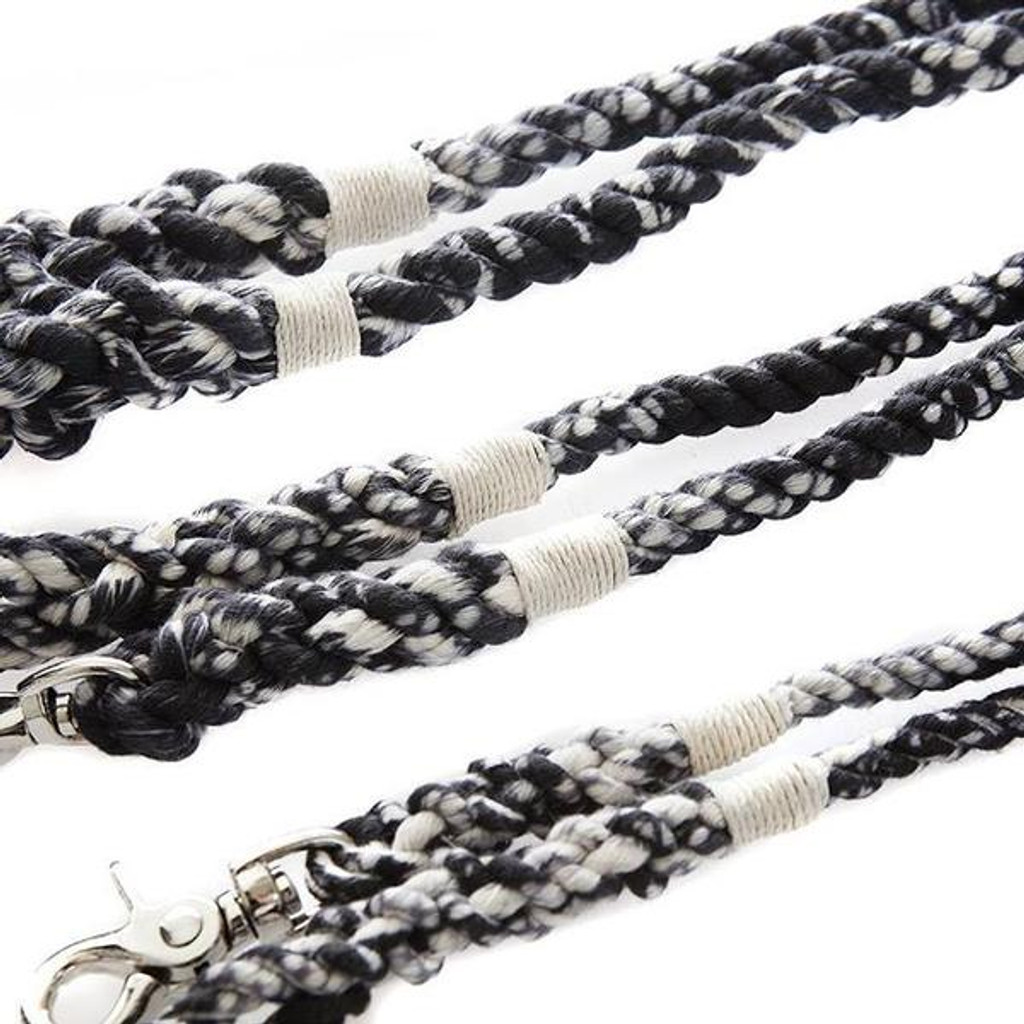Marble Black Rope Dog Leash