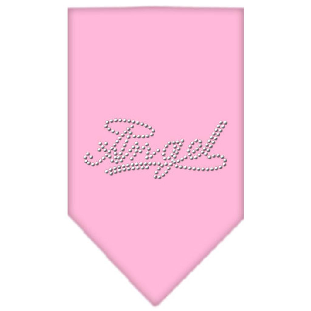 Angel Rhinestone Bandana - Light Pink