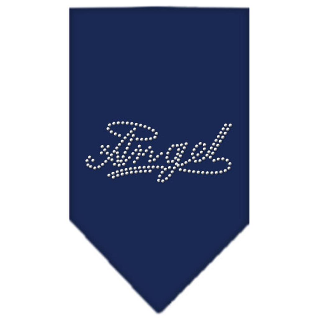 Angel Rhinestone Bandana - Navy Blue