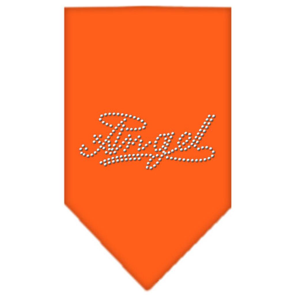 Angel Rhinestone Bandana - Orange