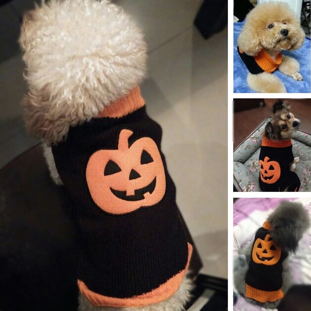 Halloween Pumpkin Pet Dog Sweater