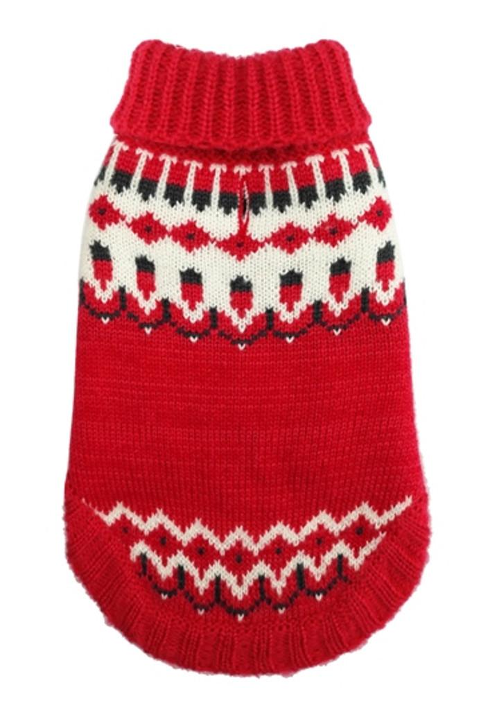 Icelandic Red Winter Dog Sweater